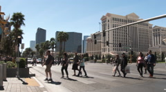 Downtown On The Las Vegas Strip Stock Footage