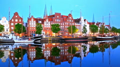 Lubeck, Germany Stock Footage