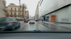 Time lapse driving in slow traffic in Palermo, Sicily. Stock Footage