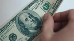 Stock Video Footage of Man recounts money hands 07