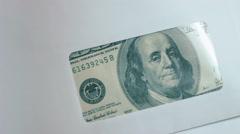 Money in envelope 01 Stock Footage