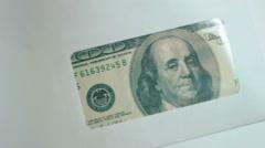 Money in envelope 02 Stock Footage