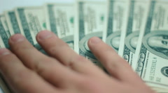 Man pays the money 02 Stock Footage
