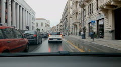 Stuck in traffic in Palermo, Sicily. Stock Footage