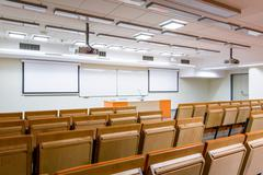 Auditorium where bright minds are studying - stock photo