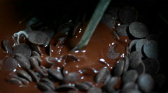 Melted Chocolate Stock Footage