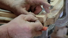 The old master carpenter Stock Footage