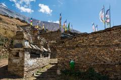 Traditional stone build village. Stock Photos