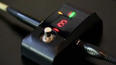 Digital Guitar Tuner Display Stock Footage