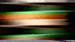 television color bars VHS bad signal green screen - stock footage