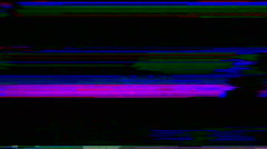 Television color bars VHS bad signal green screen Stock Footage