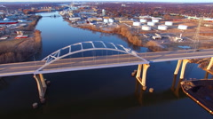Stunning Tower Drive Bridge in Green Bay, Wisconsin Stock Footage