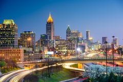 Atlanta Georgia Skyline Stock Photos