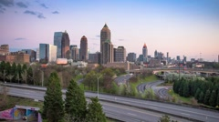 Atlanta, Georgia downtown skyline Stock Footage