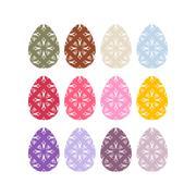 Easter eggs set. Easter eggs on white background. Eggs isolated. Festive trad Stock Illustration