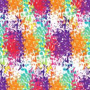 Holi celebration. Holi ornament background. Holi colour stains. Holi seamless - stock illustration