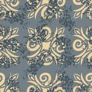 Vintage seamless pattern. Old Royal ornament. Retro background. Classic style - stock illustration
