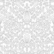 Vintage beige seamless pattern, ornamental vector background - stock illustration