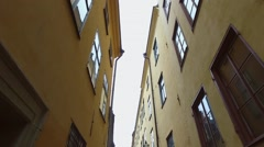 Gamla Stan,The Old Town In Stockholm Stock Footage
