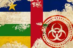 Central african republic flag Stock Illustration