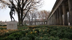 Garden in Berlin palace - stock footage