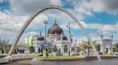 Alor Setar Zahir Mosque. Stock Footage