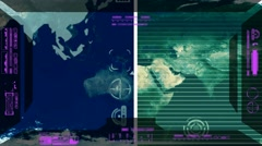 Stock Video Footage of Earth - Analysis software Radar - pink 02