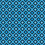 Fun seamless pattern with black and blue diamonds Stock Illustration
