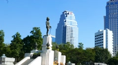 The King Rama Monument in Bangkok Stock Footage