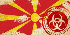 Macedonia flag - stock illustration