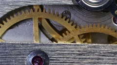 Watch Mechanism Close Up Stock Footage