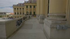 The courtyard seen from the balcony of Schönbrunn Palace, Vienna Stock Footage