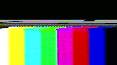 tv static noise color bars bad signal - stock footage