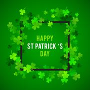 St Patricks Day background. Vector illustration - stock illustration