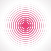 Concentric circle elements. Vector illustration for sound - stock illustration