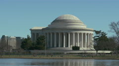 View at Jefferson Memorial in Washington DC Arkistovideo