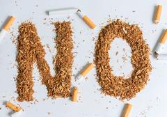 Quit smoking background - stock photo
