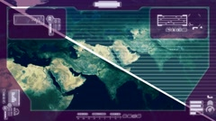 Graphics - World Data Collection - pink Stock Footage