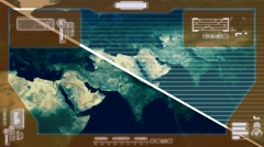 Graphics - World Data Collection - yellow Stock Footage