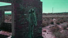 ABANDONED BUILDING REMAINS. - stock footage