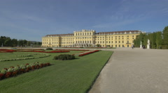 Schönbrunn Palace seen from the courtyard, Vienna Stock Footage