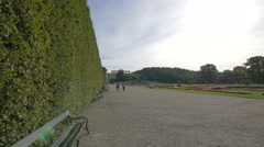 Walking in the imperial gardens of Schönbrunn Palace, Vienna Stock Footage
