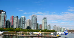 4K Vancouver Canada Cityscape Skyline, Downtown Vancouver, BC Stock Footage