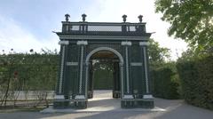 Beautiful pavilion of Schönbrunn Palace, Vienna Stock Footage