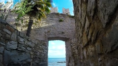 Seaview From The Old Fortress Stock Footage