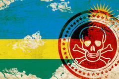 Rwanda flag Stock Illustration