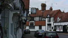 Medieval town in England Stock Footage