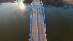 Scenic Tower Drive Bridge at Sunrise, Stunning Aerial View Stock Footage