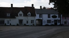 English Cottages and a traditional Pub Stock Footage