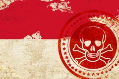 Indonesia flag Stock Illustration